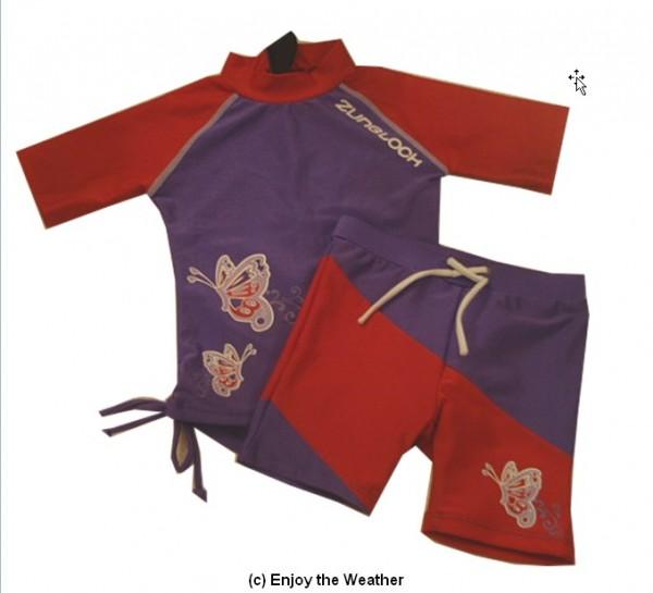 UV-Schutz 2-Teiler/ Shirt und Hose SB Butterfly