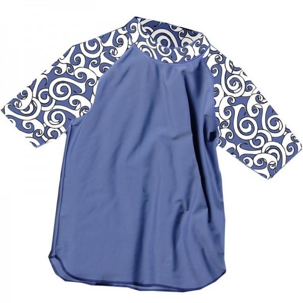 UV-Shirt LIS blau gemustert kurzarm