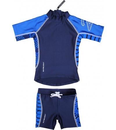 UV-Schutz 2-Teiler/ Shirt und Hose SB Snake blau