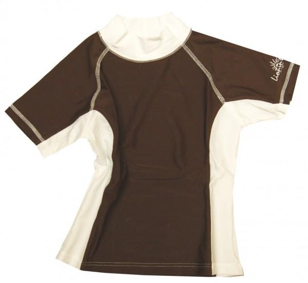 UV-Shirt LIS braun/ weiß kurzarm