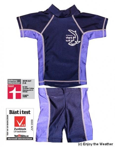 UV-Schutz 2-Teiler/ Shirt und Hose SBS 209 blau