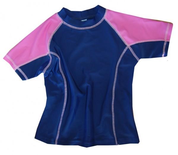 UV-Shirt LIS blau/ pink kurzarm
