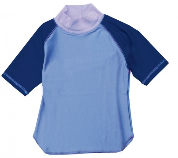 UV-Shirt LIS hellblau/ blau kurzarm
