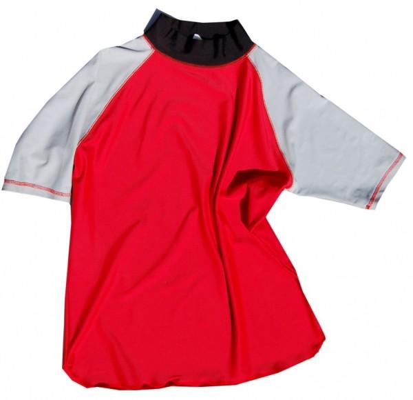 UV-Shirt LIS rot/ grau kurzarm