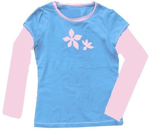 UV-Shirt LIS türkis/ rosa langarm