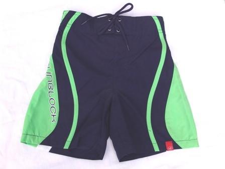 UV-Schutz Shorts SB blau/grün/weiß